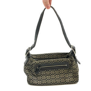 Coach Baguette Purse Handbag Signature Jacquard
